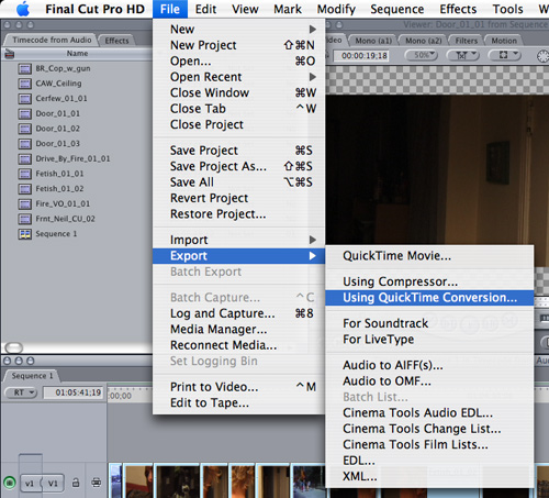 Exporting video from Final Cut Pro to MP4 for Transcription